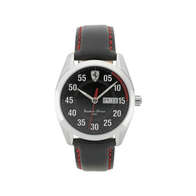 Scuderia Ferrari Mens' D50 Black Strap Watch