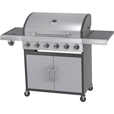 HM DELUXE 6 BURNER BBQ S STEE