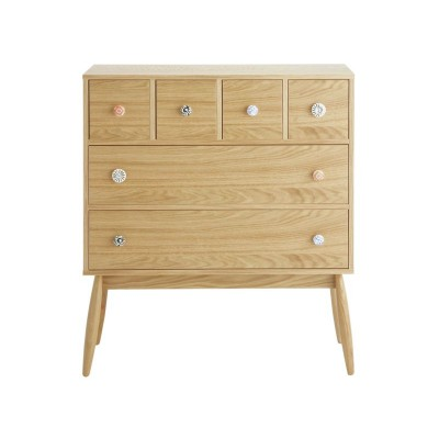 Habitat Fleur Oak 6 Drawer Chest - Natural Wood