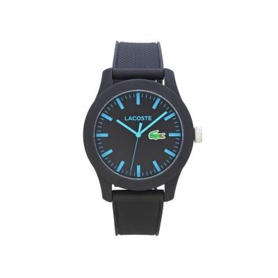 Lacoste Mens' 12.12 Black Polo Strap Watch