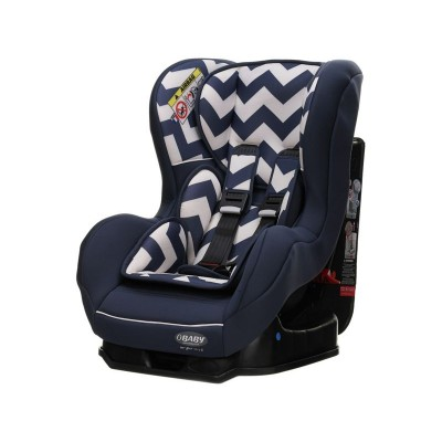 Obaby Group 0-1 Combination Car Seat - ZigZag Navy