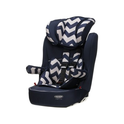 Obaby Group 1-2-3 High Back Booster Car Seat - ZigZag Navy
