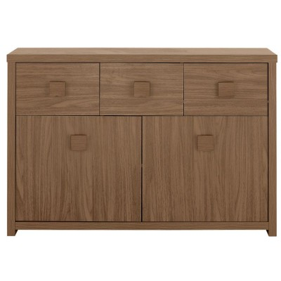 Eden 3 Drawer 2 Door Sideboard Walnut
