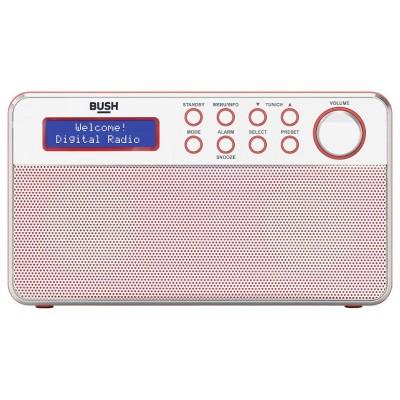 BUSH STEREO DAB RADIO RED