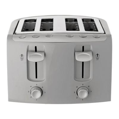 Cookworks KT-223 4 Slice Toaster - Silver