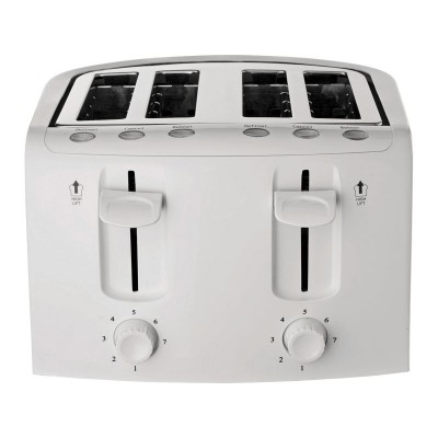 Cookworks KT-223 4 Slice Toaster - White