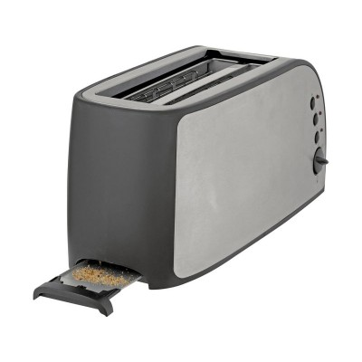 Cookworks 4 Slice Toaster - Stainless Steel