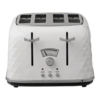 De'Longhi CTJ4003 Brillante 4 Slice Toaster - White