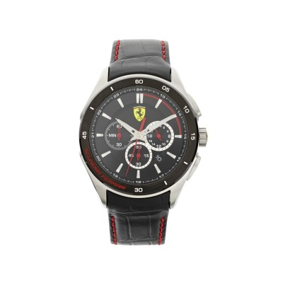 Scuderia Ferrari Men's Gran Premio Black Strap Watch