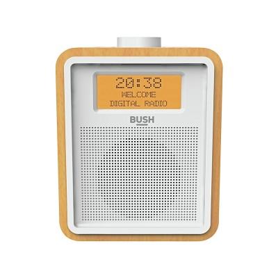Bush Wooden DAB Clock Radio