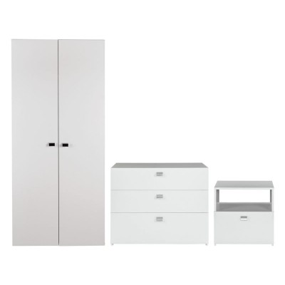 Windermere 3 Drawer Chest - White