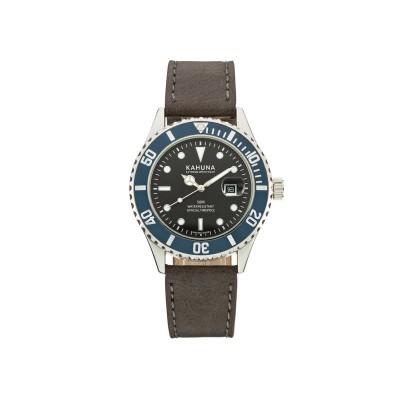 Kahuna Men's Black Dial Strap Watch with Bracelets