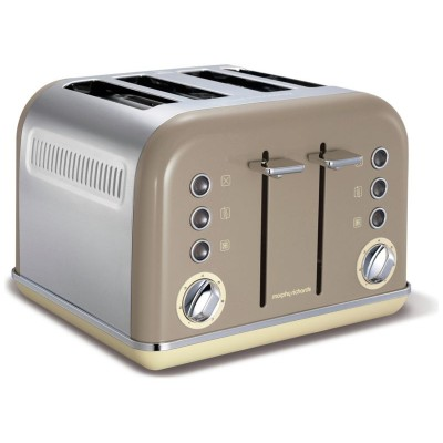 Morphy Richards 242008 Accents Four Slice Toaster - Barley