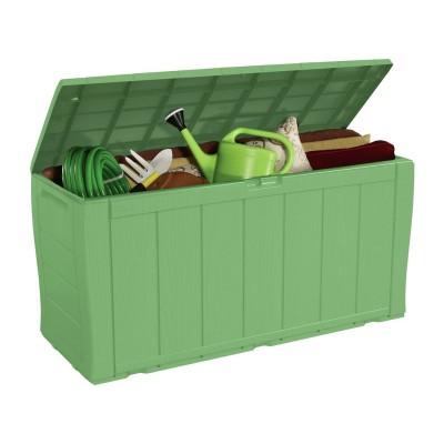 Keter Wood Effect Storage Box - Sage