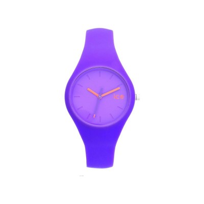 Ice-Chamallow Ladies' Purple Silicone Strap Watch