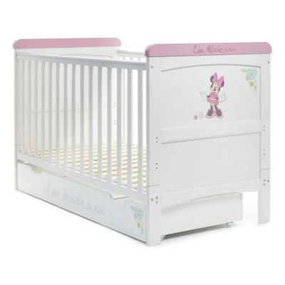 Disney Minnie Deluxe Cot Bed & Under Drawer