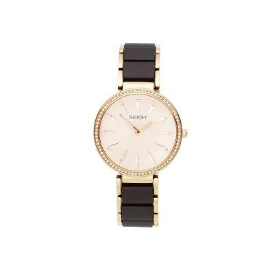 Seksy Ladies' Rose Gold Plated Bracelet Watch