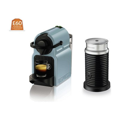 Nespresso Inissa & Aeroccino 3 Coffee Machine - Blue