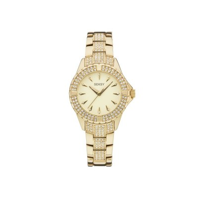 Seksy Intense Ladies' Stone Set Gold Plated Bracelet Watch