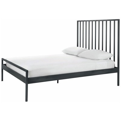 Habitat Lucia Grey Metal UK Kingsize Bed