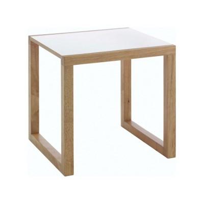 Habitat Kenstal Oak and White Side Table