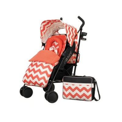 OBABY ZEAL STROLLER BUNDLE ZIGZAG ORANGE