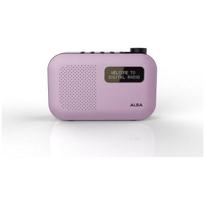 ALBA MONO DAB RADIO PINK