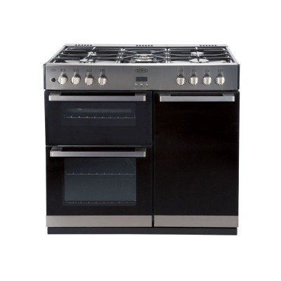 Belling DB4 90DFT Dual Fuel Range Cooker - Stainless Steel