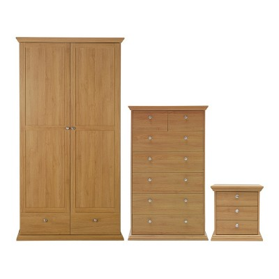 CANTERBURY 2 DR 2 DRW PACKAGE OAK