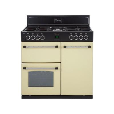 Belling Classic 90DFT Dual Fuel Range Cooker - Cream