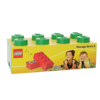 LEGO STORAGE BRICK 8 GREEN