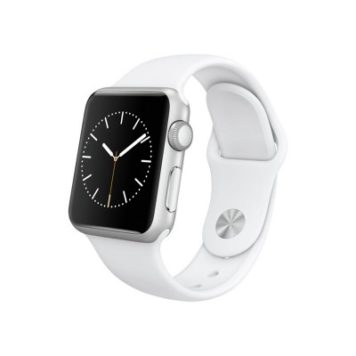 Apple Watch Sport 38mm Silver Case & White Band