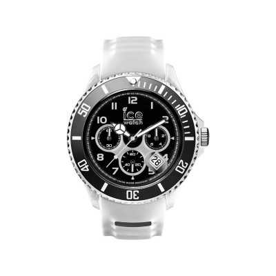 Ice Men's Silicone White Strap Chronograph Watch