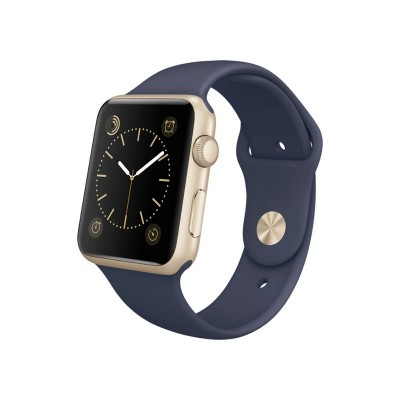 Apple Watch Sport 42mm Gold Case & Midnight Blue Band