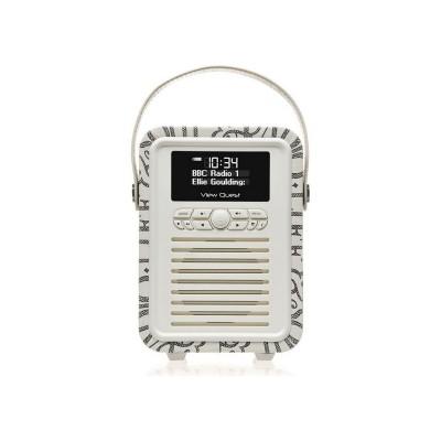 VQ Retro Emma Bridgewater Mini DAB Radio - Black Toast