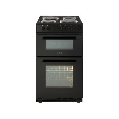 Belling FS50EFDO 50cm Double Oven Electric Cooker - Black