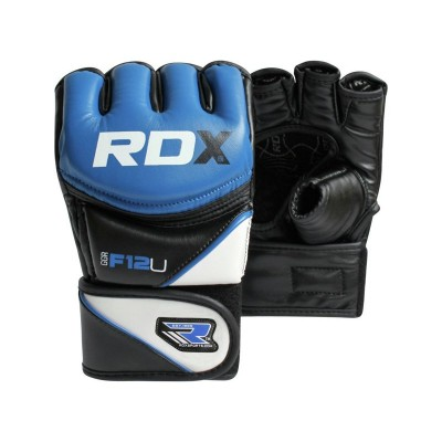 Argos Product Support For Rdx Synthetic Leather Mma Gloves Blue Medium Large 540 9699