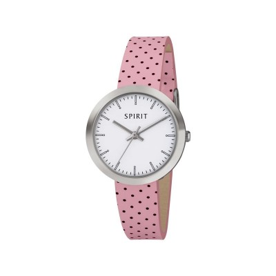 Spirit Girl's Pink Polka Dot Srap Watch