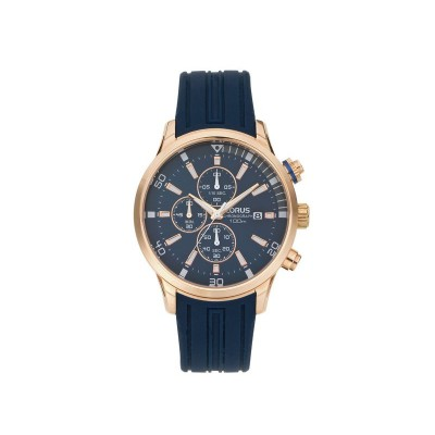 Lorus Rose Gold Plated Leather Strap Watch