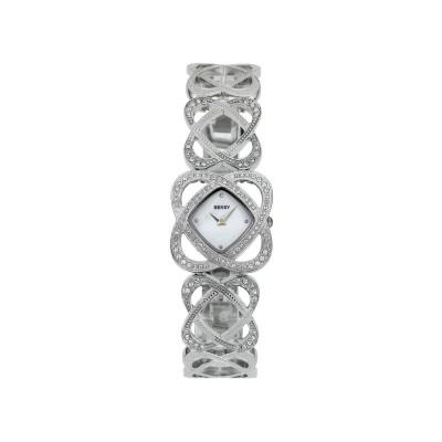 Seksy Ladies' Crystal Hearts Bracelet Watch