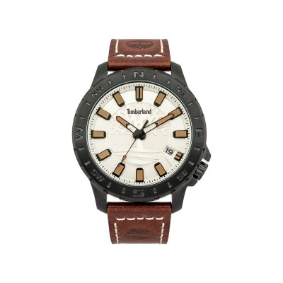 Timberland Wayland Men's Brown Leather Strap Watch