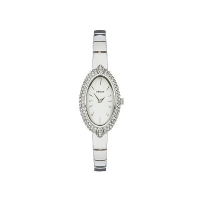 Seksy Ladie's Oval Silver Dial Watch