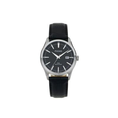 Pulsar Men's Black Strap Dress Watch