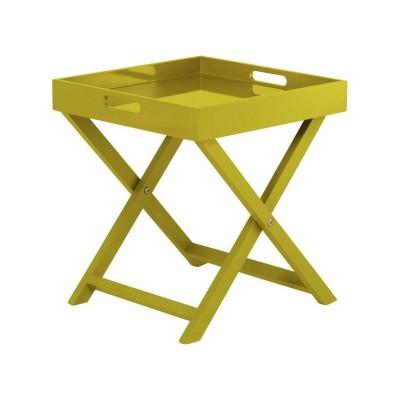 Habitat Oken Square Tray Table - Mustard