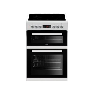 Beko KDC653W 60cm Double Oven Electric Cooker - White