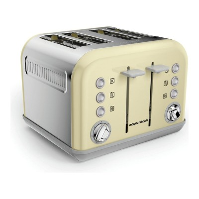 Morphy Richards 242033 Accents Four Slice Toaster - Cream