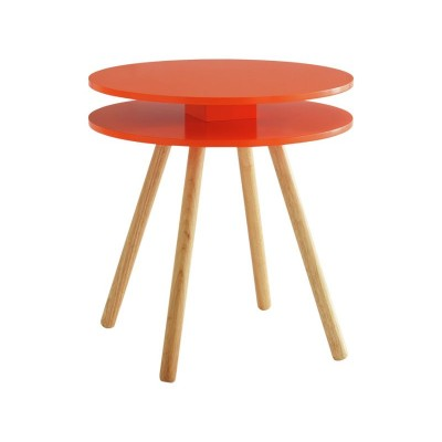Habitat Willa Side Table - Orange Red