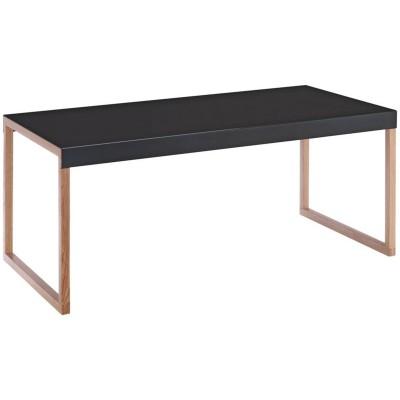 Habitat Kilo Oak Legs Long Table - Black