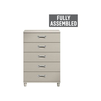 MYRA 5 DRWER LARGE CHEST LIME WASH PUTTY