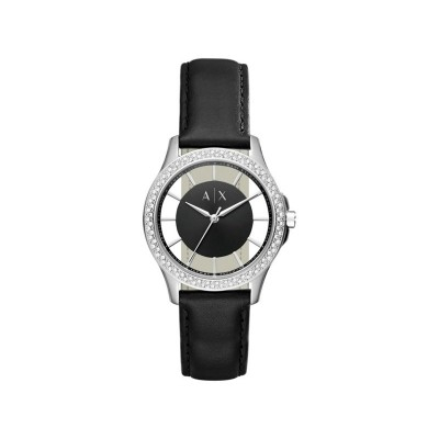 Armani Exchange AX5253 Ladies' Crystal Black Strap Watch